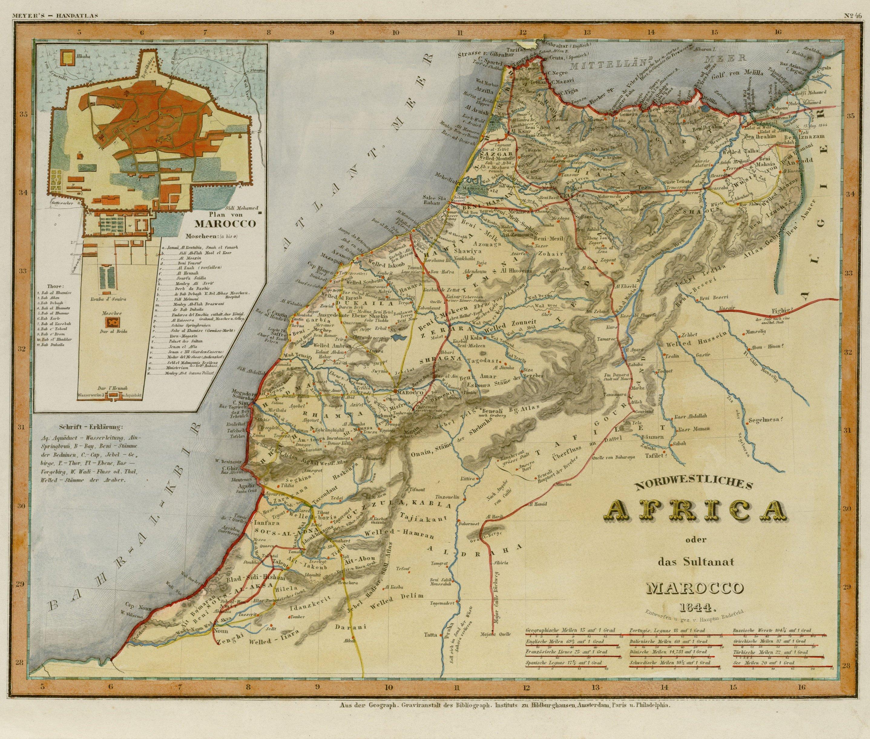 carte Allemande du Maroc
